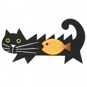 Chat Poisson noir et jaune scaled