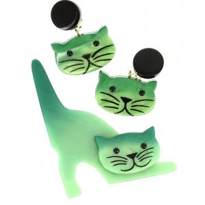 Ensemble Chat Nino vert clair