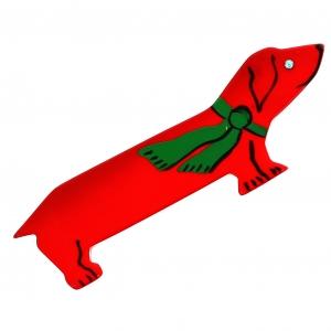 basset echarpe rouge