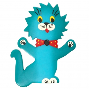 Chat Clown turquoise 1