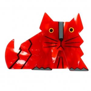 Chat Deco rouge flamme Copie