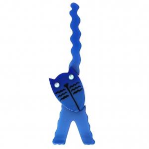 Chat Eiffel bleu