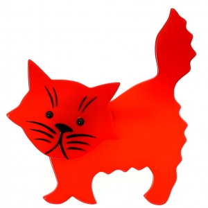 Chat Fripon rouge