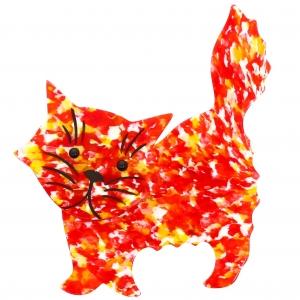 Chat Fripon rouge paillete