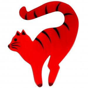 Chat Violoncelle rouge