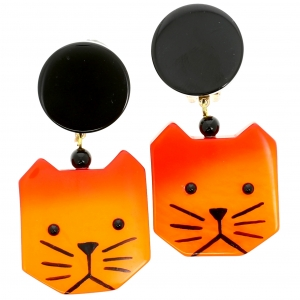 Chat carre orange