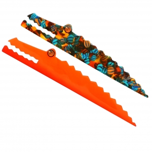 Crocodiles Longs orange et ecossais scaled