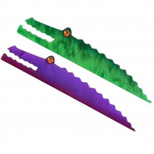 Crocodiles Longs vert et violet scaled