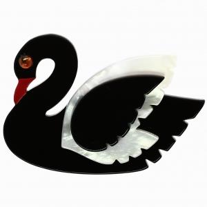 Cygne Noir blanc noir
