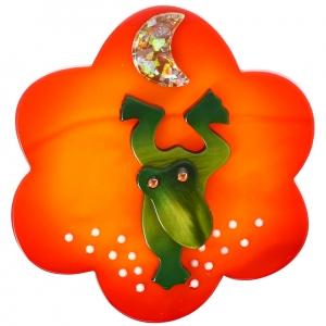 Grenouille Nenuphar orange