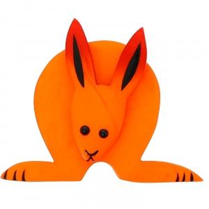 Lapin Boule orange