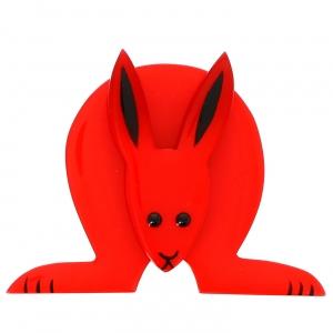 Lapin Boule rouge