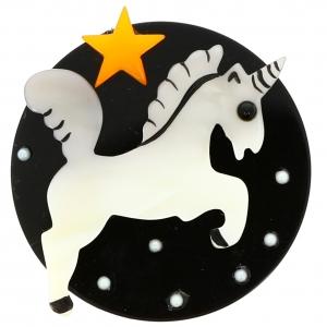 Licorne Lune noir et blanc