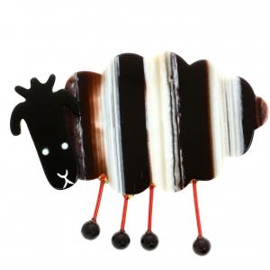 Mouton Profil beige rayures