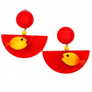 Poisson Ocean rouge et jaune