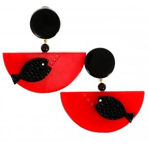 Poisson Ocean rouge et noir relief 1