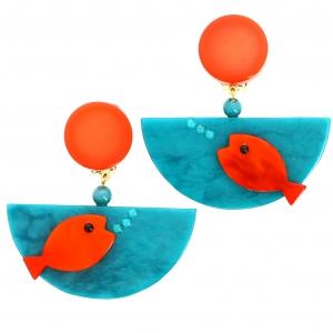 Poisson Ocean turquoise et orange 1
