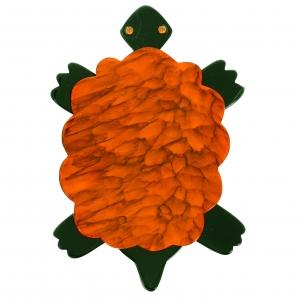 Tortue orange marbre
