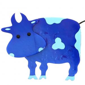 Vache Profil bleu et ciel