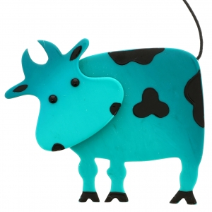 Vache Profil turquoise