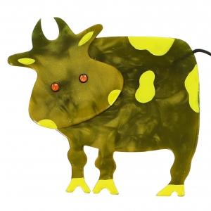 Vache Profil vert mousse 1