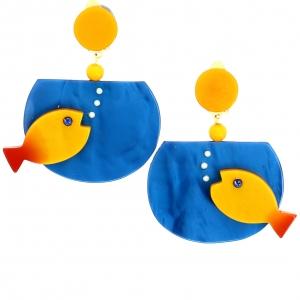 aquarium bleu et jaune