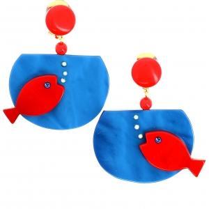 aquarium bleu et rouge