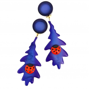 feuilles bleues coccinelle scaled