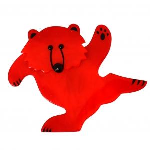ours dansant rouge