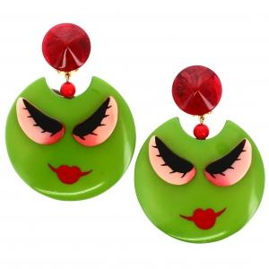 Boucles doreilles Nana olive