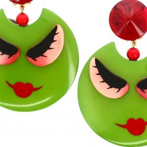 Boucles doreilles Nana olive2