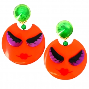 Boucles doreilles Nana orange