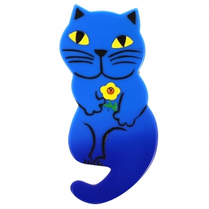 Chat Leon bleu
