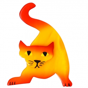 Chat Mephisto jaune