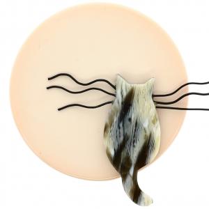 Chat Pleine Lune ivoire et poilu