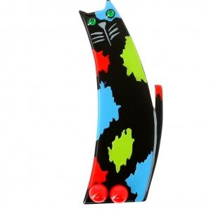 Chat Pollock noir et anis