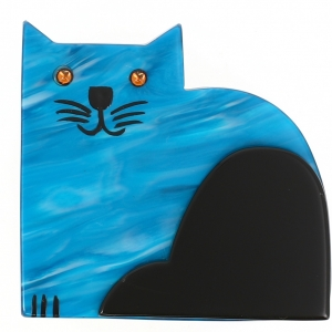 Chat Socrate turquoise flamme