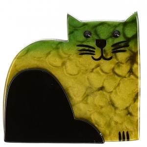 Chat Socrate vert pommele