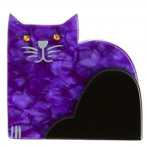 Chat Socrate violet pommele 1