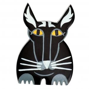 Chat otinus noir et gris