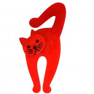 Chat violon rouge