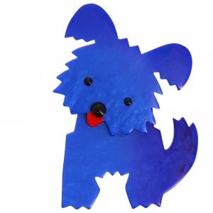 Chien Bobby bleu