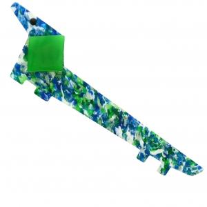 Chien Lola Bleu vert paillettes