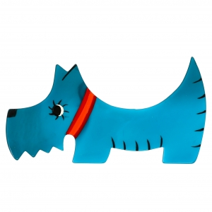 Chien Raoul turquoise