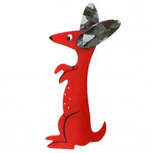 Lapin Bunny rouge et gris