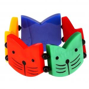 Têtes Chats Boules multicolores