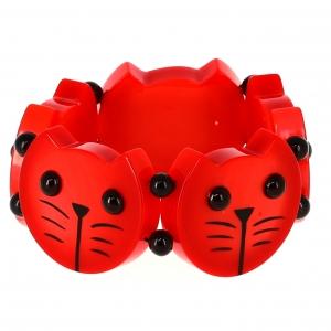 Têtes Rondes Chats rouges
