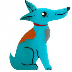 Chien Jack Russel turquoise