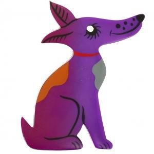 Chien Jack Russel violet