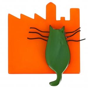 chat city orange vert